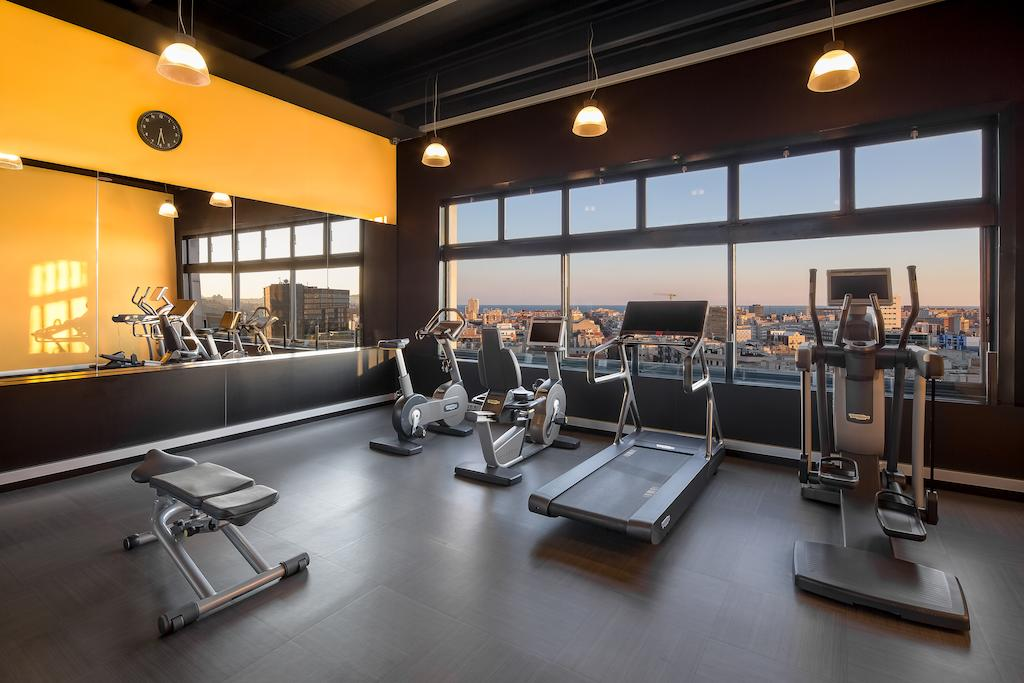 Four Points by Sheraton Barcelona Diagonal fitness center view, Barcelona Spain