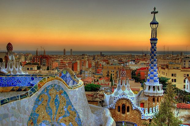 Parc Guell, Barcelona, Spain