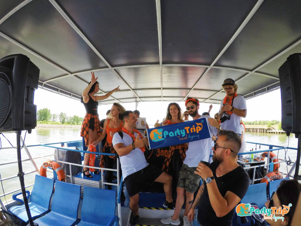 Boat party Tulcea Sulina by Party Trip Travel Agency